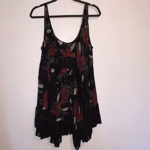 Free People Asymmetrical Tunic Top Dress Small